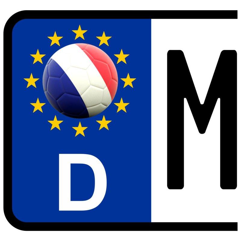 3 X Runder Kennzeichen Aufkleber Frankreich