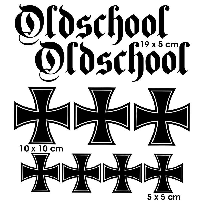 Aufkleber Oldschool Eisernes Kreuz