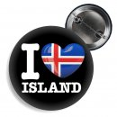 Button - I LOVE ISLAND -