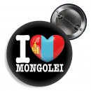 Button I love Mongolei