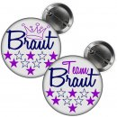 Button -- Team Braut / Braut -- weiß