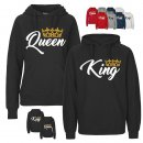 """KING & QUEEN"" Partner-Hoodies"