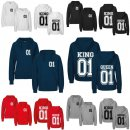 """King & Queen"" Partner-Hoodies mit Wunschdatum"