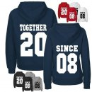 Together since... Partner-Hoodies mit Wunschdatum