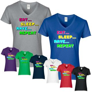 T-Shirt EAT - SLEEP - RAVE - REPEAT