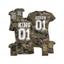 KING & QUEEN Partner-Shirts Camo