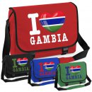 Messenger Bag - I LOVE GAMBIA -