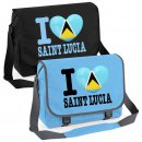 Messenger Bag - I LOVE SAINT LUCIA -