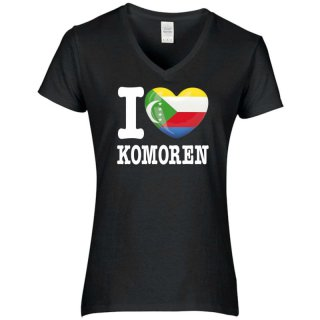 Damen T-Shirt - I LOVE KOMOREN -