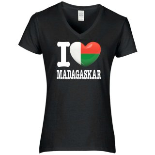 Damen T-Shirt - I LOVE MADAGASKAR -