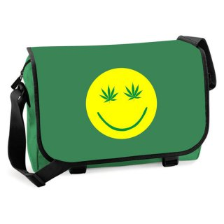 Messenger-Bag Happy Weed