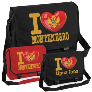 Messenger Bag - I LOVE MONTENEGRO -