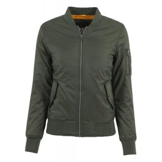 URBAN CLASSICS Ladies Basic Bomber Jacket olive