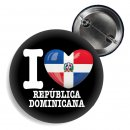 Button - I LOVE REPÚBLICA DOMINICANA -