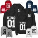 Partner-Hoodies KING & QUEEN mit Wunschdatum