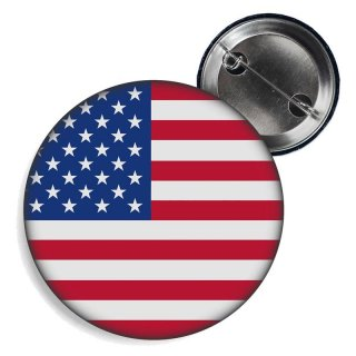 Button - USA - Fahne