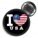 Button - I LOVE USA -