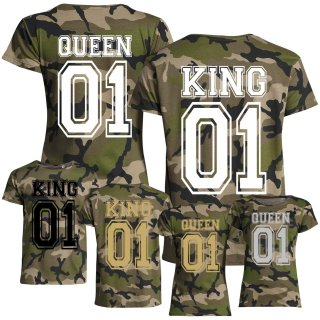 Partner-Shirts KING & QUEEN - Camo -