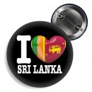 Button - I LOVE SRI LANKA -