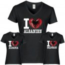 Damen T-Shirt - I LOVE ALBANIEN -