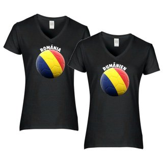 Damen T-Shirt - BALL RUMÄNIEN -