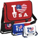 Messenger Bag - I LOVE USA