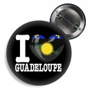 Button - I LOVE GUADELOUPE -