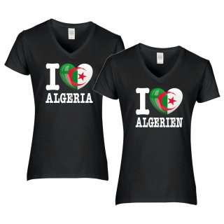 Damen T-Shirt - I LOVE ALGERIEN