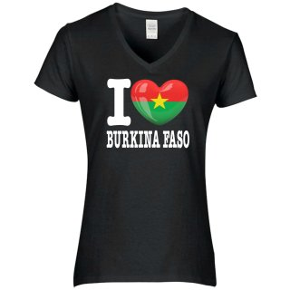 Damen T-Shirt - I LOVE BURKINA FASO