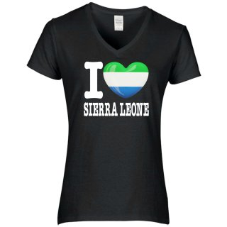 Damen T-Shirt - I LOVE SIERRA LEONE