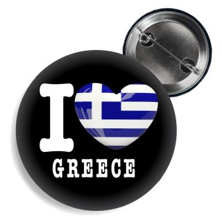 Button - I LOVE GREECE -