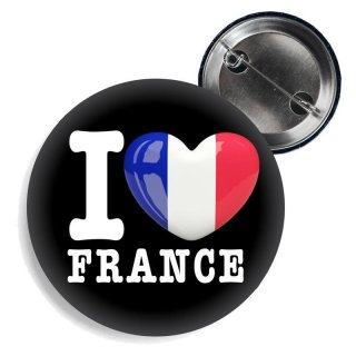 Button - I LOVE FRANCE -