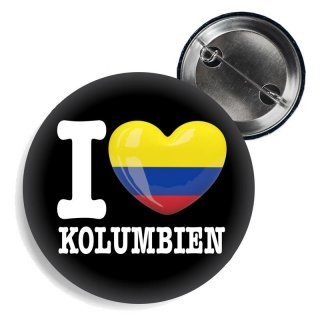 Button - I LOVE KOLUMBIEN -