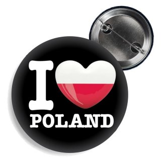Button - I LOVE POLAND -