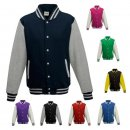 JUST HOODS Kids Varsity Jacket