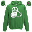 Hoodie Peace, Love & Volleyball
