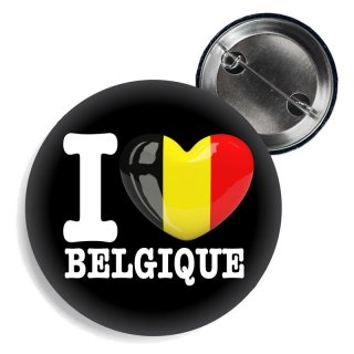 Button - I LOVE BELGIQUE -